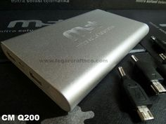 CM-Q200. Powerbank 10.500mAh with 2 power outlets & power indicator. Engraving logo. Ordered by PT. Mitra Solusi Telematika (MST) Jakarta Indonesia.