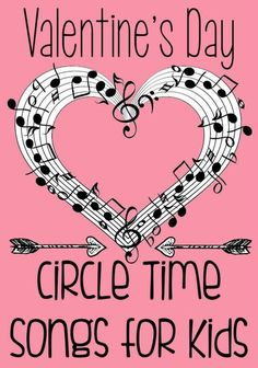 These Valentine's Day Songs for Circle Time are a great time to teach children the social skills of being together as a large group while exploring V-Day!