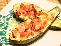 Weight Watchers Stuffed Zucchini with Ham and Cheese   Points: 2 Weight Watchers Points plus   Servings: 4   Serving Size: 1 zucchini half