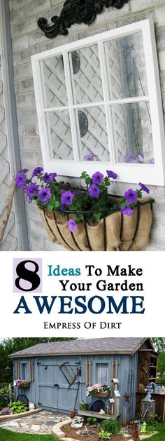 Plants, trees, and shrubs are the core of many wonderful home gardens but it takes time for plants to grow. Here's 8 ideas for things you can do right now to make your garden wonderful. Sometimes some garden art—whether it's homemade or store bought—is all you need!