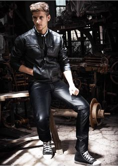 Leather look.