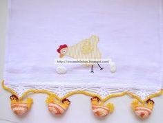 barra de croche galinhas