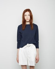 Apiece Apart / Cropped Quarter Sleeve Boatneck Tee Apiece Apart / Juana Paperbag Short