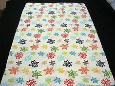 Pillowcase Multicolor Bright Retro Daisies Standard Size 100% Cotton