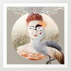 Bird of Cranes Art Print by Ruta13 - $14.56