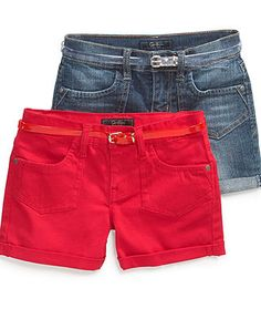 Jessica Simpson Kids Shorts, Girls Superstar Shorts with Jelly Belt - Kids Girls 7-16 - Macy's