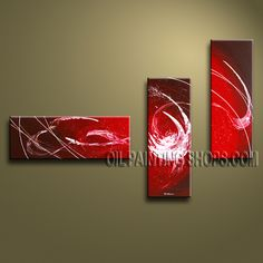 Enchanting Modern Abstract Painting High Quality Oil Painting For Living Room Abstract. This 3 panels canvas wall art is hand painted by Bo Yi Art Studio, instock - $129. To see more, visit OilPaintingShops.com