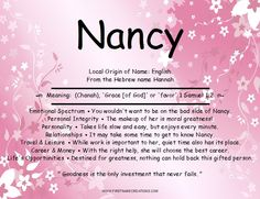 Nancy Name Meaning