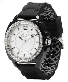 COACH BOYFRIEND SILICON RUBBER STRAP WATCH - All Watches - Jewelry Watches - Macys