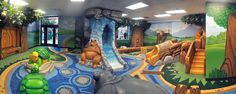 Worlds of Wow is your solution for indoor play attractions and custom themed children's environments. Our indoor playgrounds, play spaces, and and sculptures are custom-designed and affordable. Preschool Playground, Preschool Rooms, Indoor Playground, Kids Gym, Kids Daycare, Kids Church Stage, Children Church, Worlds Of Wow, Aesthetic Bedroom