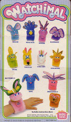 Watchimals!  There were a lot of stuffed animal based watches in the 80's...
