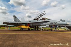 Spanish EF-18BM Hornet.  See the rest of my aviation images in full size by clicking on the thumbnail.  They are also available to buy in a variety for formats or as a digital download without the watermark. #riat #riat2014