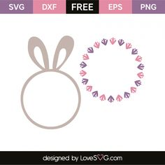 *** FREE SVG CUT FILE for Cricut, Silhouette and more *** Easter monogram frames