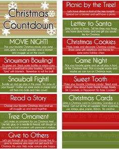 25 Ways to Spend your Christmas Holidays Kids Christmas Activities Countdown Boredom Buster Jar or Advent Calendar Merry Little Christmas, Noel Christmas, Christmas Countdown, Winter Christmas, Christmas Crafts, Thanksgiving Holiday, Christmas Advent Calendars, Christmas Christmas, Christmas Sayings