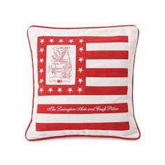 Lexington Arts & Craft Kissen Rot/Weiß #SALE