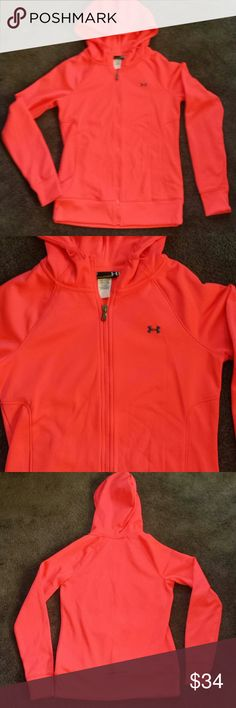 Brand new Under Armour jacket! Small petite Nwot. So cute & sexy while being a part of a serious workout. This is for the lady who was serious about her workouts! Fitted style so not roomy. Hot pink w/full length zipper. 2 side pockets. Trade value $45 Thx! Under Armour Jackets & Coats