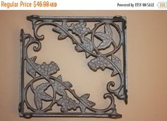 ON SALE 4, Grapevine, Shelf bracket, shelf brackets, corbel, corbels, iron shelf bracket, cast iron shelf bracket, Supports étagère, bracket by wepeddlemetal. Explore more products on http://wepeddlemetal.etsy.com