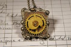 Industrial Pendant Steampunk Jewelry Mixed Metal by JimRocksGA, $29.00