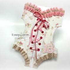 kartka gorsetowa Diy Cards, Christmas Stockings, Bodysuit, Holiday Decor, Women, Fashion, Needlepoint Christmas Stockings, Onesie, Moda