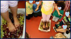 Προσχολική Παρεούλα : Μες το πατητήρι .... αχ τι πανηγύρι !!! Asparagus, Crafts For Kids, Fruit, Vegetables, Blog, Fall, Autumn, Blue Prints, October