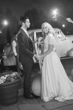 Sleepy Ridge Weddings & Events | Bride and Groom | Sparkler Sendoff | Utah Venue | Heather Telford Photography