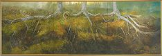 Painting by Gerald Squires, Newfoundland Prince Edward Island, Morning Light, Triptych, Newfoundland, The Outsiders, Paintings, Artists, Image, Painting
