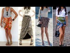 Como Fazer Modelagem de uma Linda Saia Longa Pareô (sem molde) - YouTube