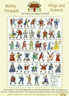 Bothy Threads Kings and Queens Counted Cross Stitch Kit