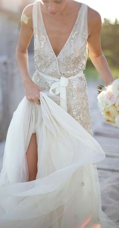 Stunning wedding dress by Dennis Basso