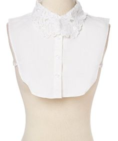 3cd6443c32c7f White Lace-Collar Button-Front Dickey - Women