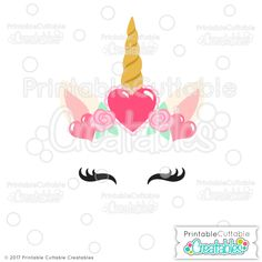 Valentine Hearts Unicorn Face Free SVG Files & Clipart - Valentines Unicorn Face DXF, SVG files for Silhouette Cameo, Cricut cutting machine. Valentine's Day Unicorn SVG File for scrapbooking, paper crafts, vinyl crafts. Unicorn Valentine, Valentine Box, Valentine Hearts, Unicorn Party, Vinyl Crafts, Paper Crafts, Shilouette Cameo, Unicorn Printables, Unicorn Face