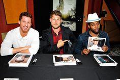 (L-R) Kevin Michael Martin, Travis Van Winkle and Jocko Sims attend TNT's 'The Last Ship' USO screening at Reading Cinemas Gaslamp 15 on June 15, 2015 in San Diego, California. 25590_001