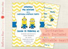 Minion Birthday Party Invitation!