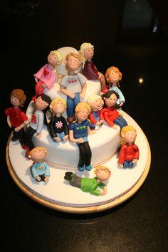 Grandma cake. All her grandchildren and great grandchildren!