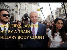 WIKILEAKS JULIAN ASSANGE LAWYER GETS HIT BY A TRAIN! HILLARY? - YouTube