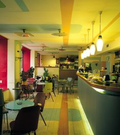 Cafe Kaaba, Prague - my local coffeeshop Prague Apartment, Retro Cafe, Restaurant Bar, Restaurant Interiors, Cafe Bar, Rental Apartments, Coffee Shop, Furniture, Meet