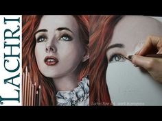 Realistic colored pencil portrait tutorial - speed drawing w/ Lachri - YouTube