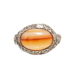 Sterling+Silver+and+Agate+Ring+