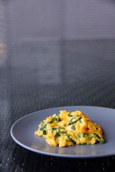 1st October 2013: Scrambled eggs with rainbow chard