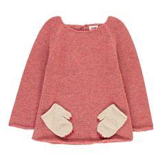 Oeuf NYC Monster Alpaca Wool Baby Jumper Pink
