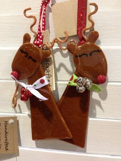 Fused Glass Christmas Ornament  Reindeer by elementsoffusion, $14.00