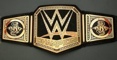 This is an early prototype of the current WWE World Heavyweight Championship Belt.