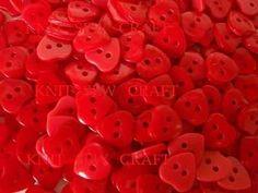 Red Heart Shape Buttons