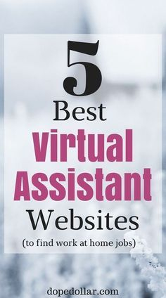 Here are the top 5 websites to find virtual assistant jobs that you can work from home! If you're looking to be a personal assistant these are the top 5 websites I would use. Quick Money, Way To Make Money, Make Money Online, Extra Money, Mortgage Tips, Virtual Assistant Services, Marketing Techniques, Part Time Jobs, Work From Home Jobs