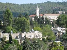 """EIn Kerem--According to the Bible, Mary went """"into the hill country, to a city of Judah"""" when she visited the home of Zechariah and Elizabeth. Theodosius (530) says that the distance from Jerusalem to the place where Elizabeth, the mother of John the Baptist, lived is five miles. The Jerusalem Calendar (dated before 638) mentions the village by name as the place of a festival in memory of Elizabeth celebrated on the twenty-eighth of August."""