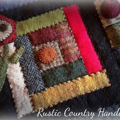 Log cabin block in recycled wool                                                                                                                                                      More