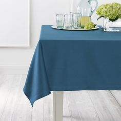 "Use a sleek tablecloth to protect your dining table: Fete Corsair 60""x90"" Tablecloth  
