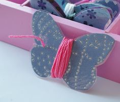 butterfly embroidery floss holders (cross stitch)