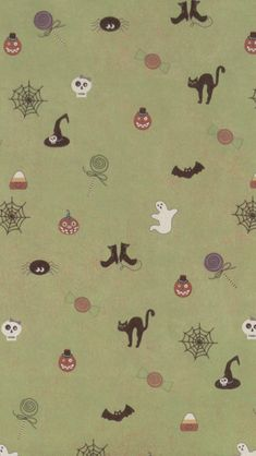 Cute Halloween Pattern iPhone 5 Wallpaper / iPod Wallpaper HD - Free Download