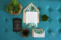 succulent wedding invitations | 35 Most Creative Ideas for Succulents in Weddings | http://emmalinebride.com/modern/succulents-in-weddings/